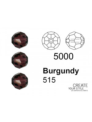 Swarovski Tondo Sfaccettato BURGUNDY - 5000