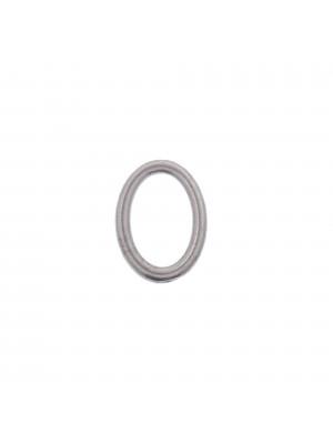 Anello ovale chiuso liscio, 21x15 mm.