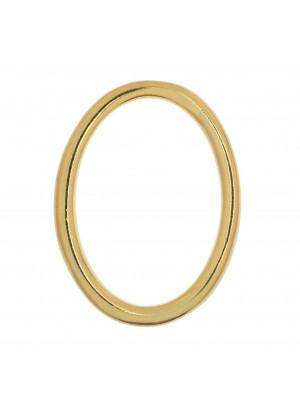 Anello ovale chiuso liscio, 35x25 mm.