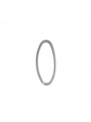 Anello ovale chiuso liscio sottile, 8x18 mm.