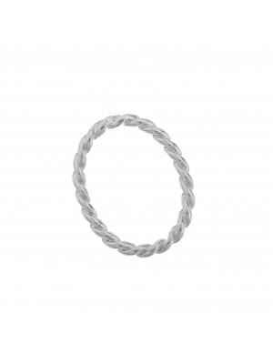 Anello ovale chiuso zigrinato, 30x22 mm.