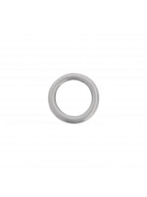 Anello tondo chiuso liscio 16 mm.