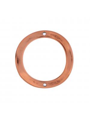 Anello tondo chiuso piatto e ondulato con 2 fori 35 mm.
