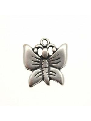 Ciondolo a forma di farfalla bombata 18 mm.