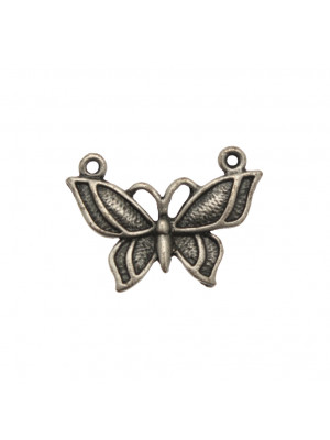 Ciondolo a forma di farfalla media puntinata con 2 anelli 30x21 mm.