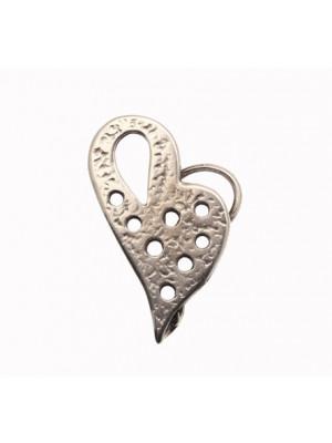 Ciondolo a forma di cuore gigante stilizzato