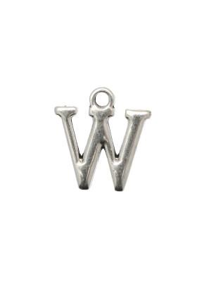 """Ciondolo a forma di lettera """"W"""", 10x16 mm."""