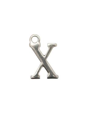 """Ciondolo a forma di lettera """"X"""", 10x16 mm."""