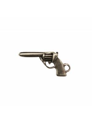 Ciondolo a forma di pistola, 29x14 mm.