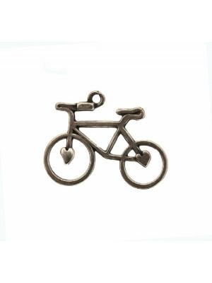 Ciondolo a forma di bicicletta stilizzata, 23x30 mm.