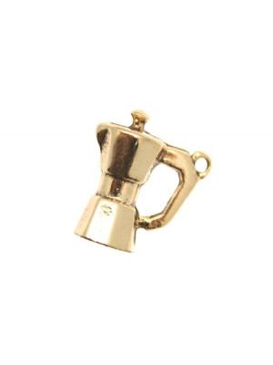 Ciondolo a forma di Moka da caffè 14x16 mm.