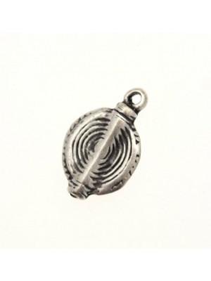Ciondolo a forma di spirale con barra centrale 14 mm.
