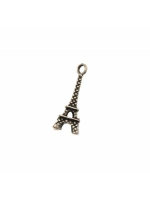 Ciondolo a forma di Torre Eiffel piccola, 7x20 mm.