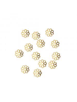 CONFEZIONE RISPARMIO - Coppetta filigranata mignon, diametro 6 mm., colore ORO LUCIDO