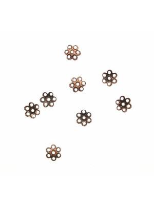 CONFEZIONE RISPARMIO - Coppetta filigranata mignon, diametro 6 mm., colore RAME ANTICATO