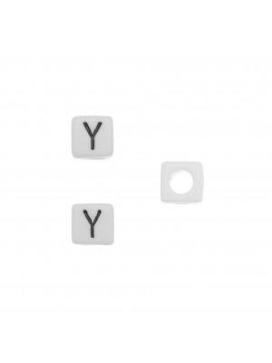 """Distanziatore quadrato in resina con disegno lettera """"Y"""", 7 mm."""