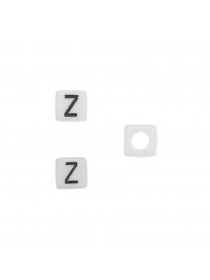"""Distanziatore quadrato in resina con disegno lettera """"Z"""", 7 mm."""