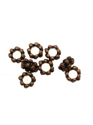 Distanziatore a rondella alta formata da due file di pallini, 6x3,2 mm.