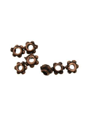 Distanziatore a rondella alta a fiore mignon, 5x2,8 mm.