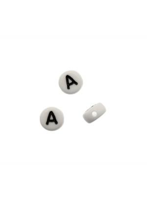 """Distanziatore in resina con disegno lettera """"A"""", 7x4 mm."""