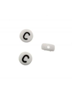 """Distanziatore in resina con disegno lettera """"C"""", 7x4 mm."""