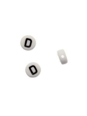 """Distanziatore in resina con disegno lettera """"D"""", 7x4 mm."""
