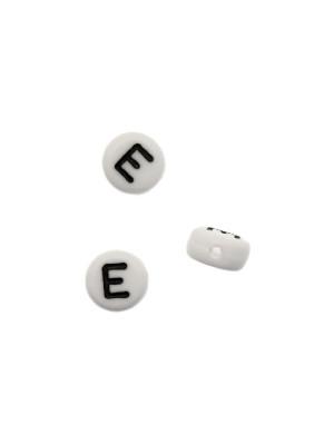 """Distanziatore in resina con disegno lettera """"E"""", 7x4 mm."""