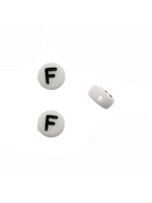 """Distanziatore in resina con disegno lettera """"F"""", 7x4 mm."""