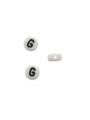 """Distanziatore in resina con disegno lettera """"G"""", 7x4 mm."""