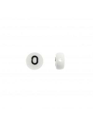 """Distanziatore in resina con disegno numero """"0"""", 7 mm."""