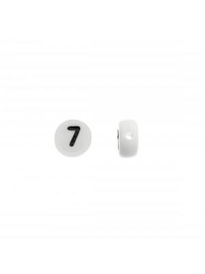 """Distanziatore in resina con disegno numero """"7"""", 7 mm."""