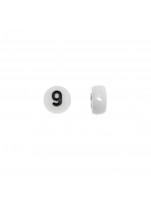 """Distanziatore in resina con disegno numero """"9"""", 7 mm."""