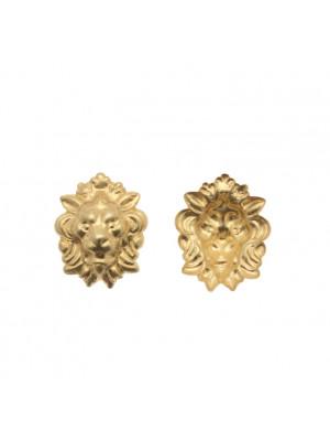 Filigrana a forma di testa di leone, 17x22 mm.