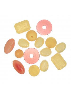 Mix Perline in Resina colore ARANCIONE