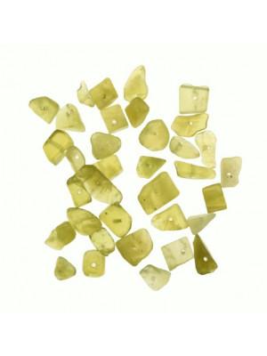 Chips in pietra dura, Giada Verde Oliva semi-trasparente