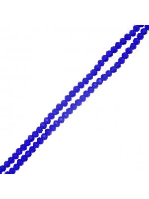 Filo di Rondelle, in Cristallo, 4x3 mm., colore BLU ELETTRICO