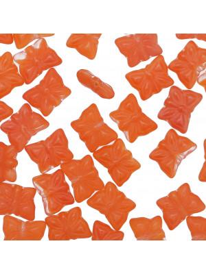 Farfalla, 15x12 mm., Arancione opaco scuro