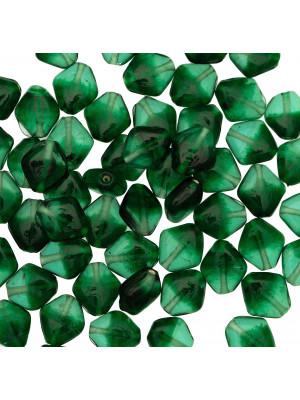 Rombo piatto, 16x14 mm., colore Verde Smeraldo sfumato