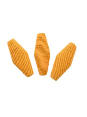 Rombo piatto in corda incollata, 48x22 mm., Arancione chiaro