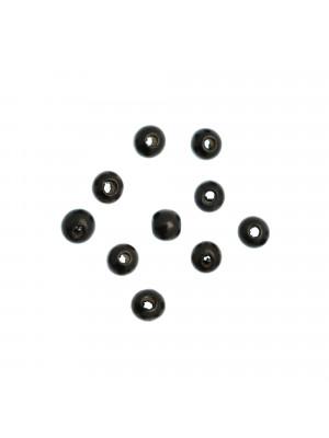 Palla in Legno, liscia, 10 mm., colore NERO
