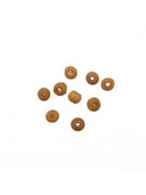 Palla in legno, liscia, 8 mm., colore NOCCIOLA CHIARO