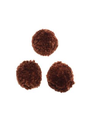 Pon pon in cotone, la misura dei pon pon può variare dai 20 ai 25 mm., Marrone scuro