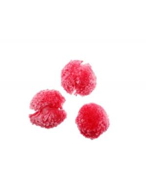Pon pon in cotone, la misura dei pon pon può variare dai 20 ai 25 mm., Fucsia
