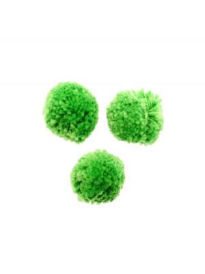 Pon pon in cotone, la misura dei pon pon può variare dai 20 ai 25 mm., Verde Peridot