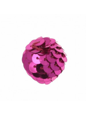 Palla in paiettes, colore Fucsia
