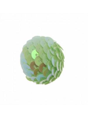 Palla in paiettes, colore Verde