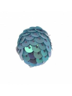 Palla in paiettes, colore Turchese