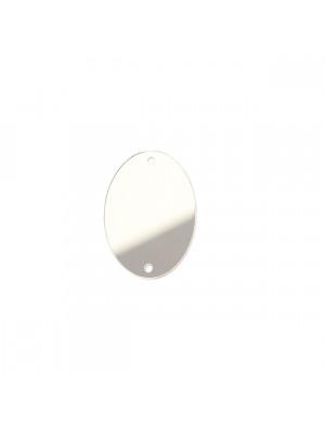 Elemento piatto in resina, a foma di ovale, a specchio