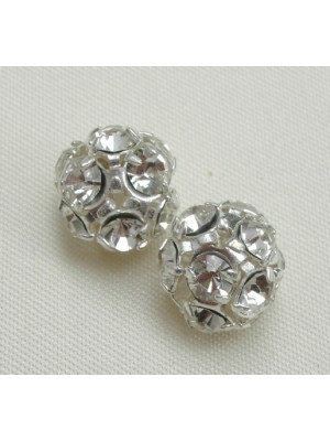 Palla strass, 10 mm., colore strass Crystal