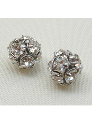 Palla strass, 8 mm., base Rodio